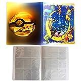 ESOOR Guía de colección Profesional Álbum de Cartas coleccionables para Pokémon - GX-EX-TCG - Naipe - 162 Ranuras para Tarjetas Puede Contener 324 Cartas - (Pikachu Cover Blue Deluxe Edition)