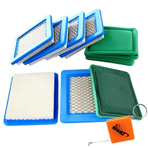 Preisvergleich Produktbild HURI 6 Luftfilter + 6 Vorfilter passend für Briggs & Stratton 3-5 PS Quantum 625 650 675 Ersetzt 491588 399959 491588S Sabo 31749 Wolf 2058411