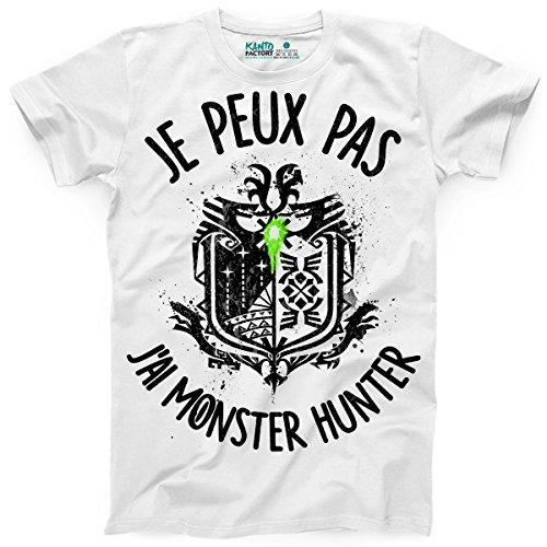 Kanto Factory T-Shirt Monster Hunter World Geek Je Peux Pas J'Ai Monster Hunter (M)