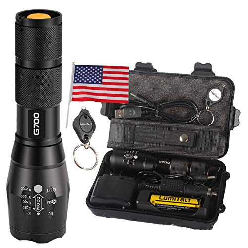 2000lm Genuine Lumitact G700 L2 LED Tactical Flashlight Military Grade Torch (Tactical Flashlight-1)