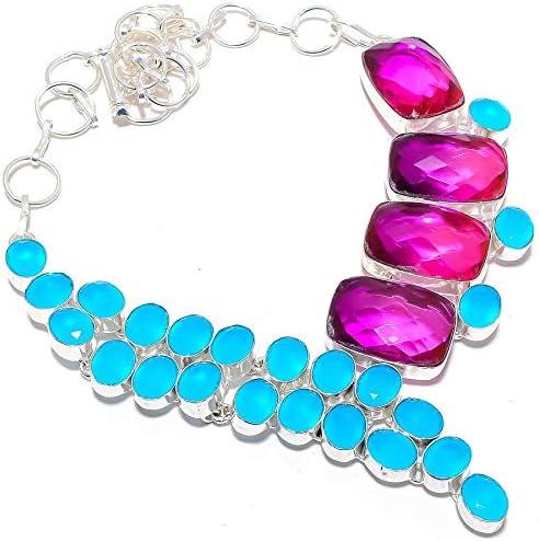 YUVI Bi-Color Tourmaline Blue Onyx Max 80% Max 66% OFF OFF 925 Silver Sterling Necklac