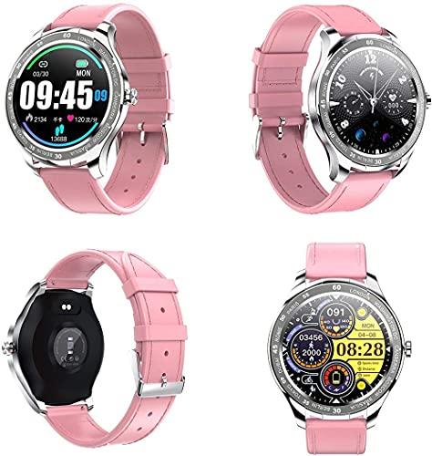 DHTOMC Damen Smart Watch 3,3 cm wasserdichte Uhr Multi-Sport-Modus Schlaf-Detektor Uhr Pink b
