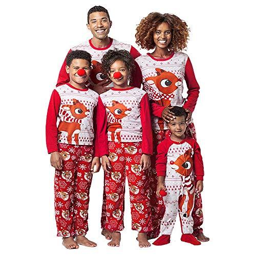 Natale Famiglia Matching Pigiami Due Pezzi Pigiami Natale Famiglia Famiglia Montato Famiglia coordinazione Abbigliamento Uomo Donne Bambini Ragazzo Ragazza Camicia Pantaloni Indumenti da Notte Abiti