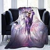 LUCKY Home Manta para cama Galaxy Pug Riding Llama ultra suave y gruesa para todas las estaciones, microfibra de franela de forro polar para sofá, tamaño individual, 152 x 127 cm