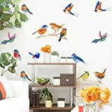 IARTTOP Watercolor Birds Wall Decal, Creative...