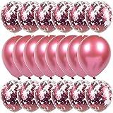 PPLAA 20 unids Metal Latex Globos Confeti Globo Boda Niño Fiesta de cumpleaños Decoración de Ballon Ducha Bebé Partido Baloon Air Globo (Color : 12)