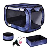 CHEERING PET, Cat Travel Cage, Portable Cat Condo, Collapsible Litter Box,...