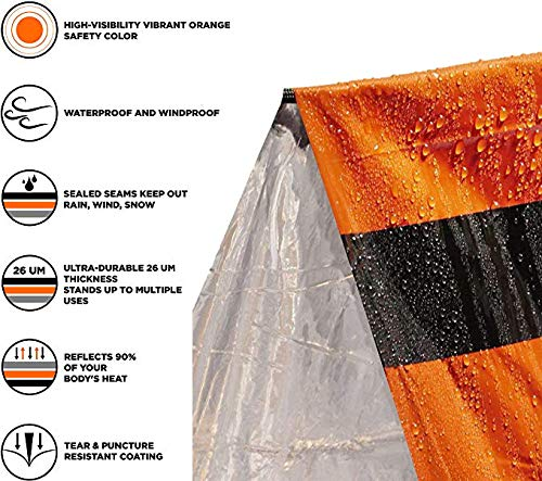 Mrsharkfit Emergency Tent with 2 Emergency Blanket – 2 Person Emergency Tent – Use As Survival Tent, Emergency Shelter… 5