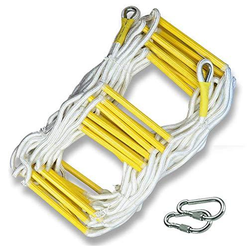 WSJ Échelle de secours avec 2 crochets, antidérapante et résistante à l'usure en polyester souple, plusieurs longueurs au choix (taille : 29 m)
