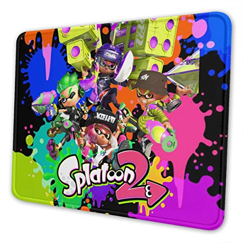 Mouse Pad with Stitched Edge Splat-Oon Non-Slip Rubber Mouse Mat Thick Gaming Mouse Pads for Computers 7.9 X 9.5 in