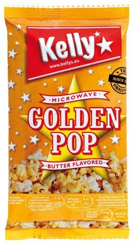 7x Kelly - Mikrowellen-Popcorn Golden Pop Butter - 90g