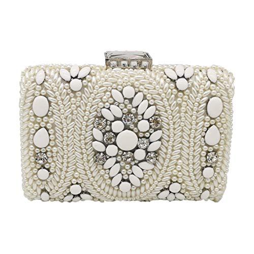 JERKKY handtas 1 stuk clutch met parels vintage avondtassen voor dames bruidshandtassen schoudertas met ketting voor party bruiloft