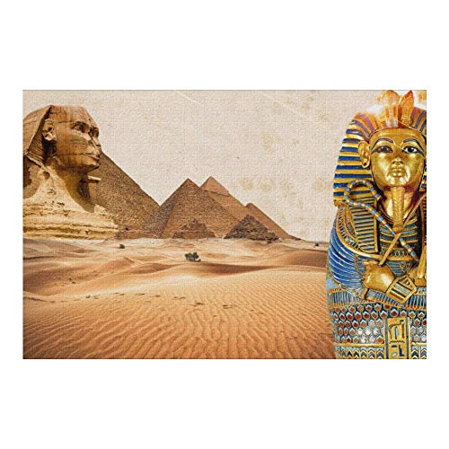 Picture Puzzle, Egypt Pyramids Art Jigsaw Puzzle 1000 Piece Funny Brain Puzzles Educational Gift for Adult Kids Family Home Wall Decorations
