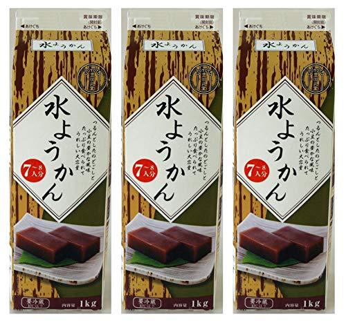 G070955-3P豊田乳業牛乳パックシリーズ水ようかん1kg(7~8人分)×3個