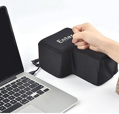 JYSPT Großes Enter-Tasten-Threw-Kissen, USB-Schnittstelle, bequem und wirtschaftlich, Schreibtisch-Kissen, Stress-Boxsack, kreatives Nickerchen Kissen