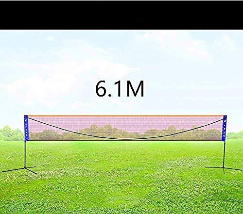 6.1m Badminton Net Set Tportable Volleyball Net Kids Volleyball For Garden Schoolyard Backyard Beach 5.1m Black-6.1 Perfect