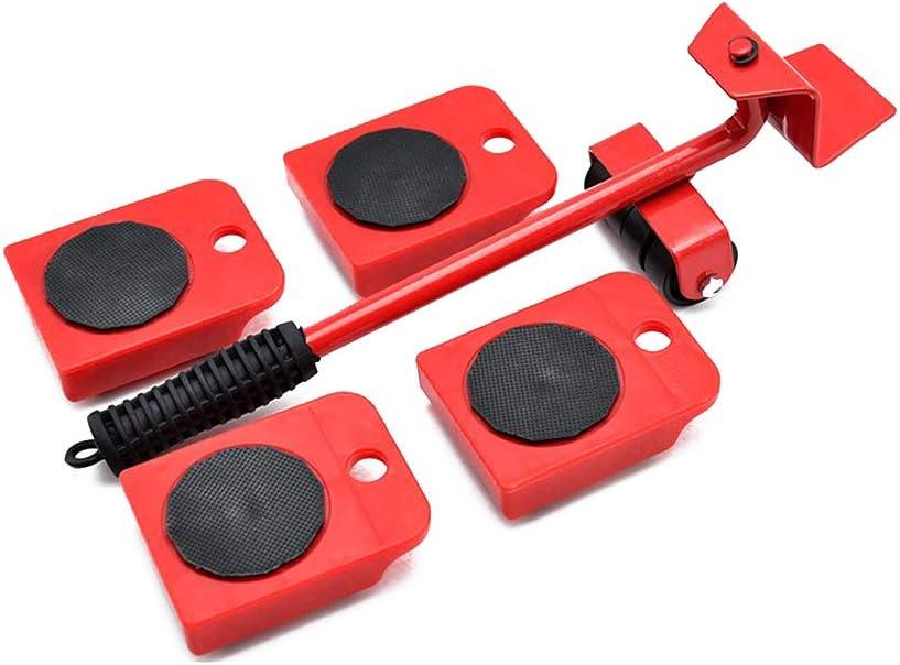 Levantador de muebles con 4 deslizadores móviles, juego de rodillos para muebles, herramientas de movimiento pesadas máximo para 150 kg, almohadillas giratorias de 360 grados