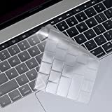 OJOS Ultra Thin Transparent Keyboard Cover Protector Skin with Touch Bar for MacBook