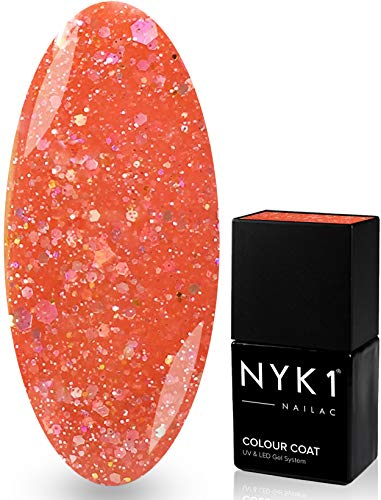 NYK1 NAILAC - DIAMOND CORAL - Professional Shellac Gel Nail Polish - UV & LED Drying - Quick Soak Off Gel Polish 10ml - Over 100 Shellac Colours to Choose From! by NYK1