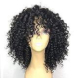 DOLA Parrucche Sintetiche Afro Kinky Taglio scalato Parrucca Lunghezza Media Nero Capelli Sintetici 26~30 Pollice per Donna Nuovo Arrivo Nero