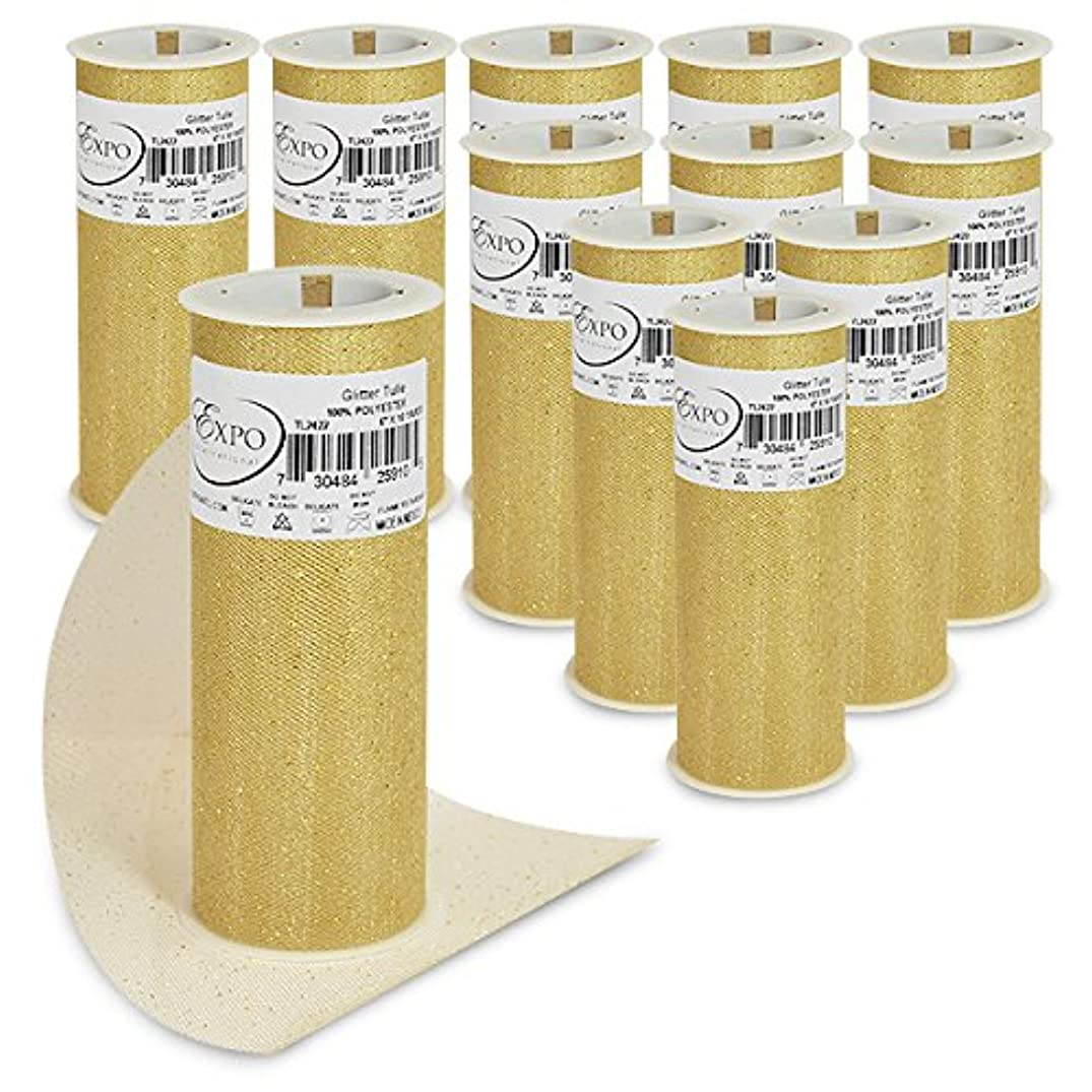 Expo International TL2422GL-12 Glitter Tulle Spool (12 Pack), 6