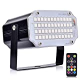 AUSHEN Strobe Lights with Remote Sound Activated Strobe Lights for Parties 48 RGB