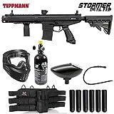 Maddog Tippmann Stormer Elite Dual Fed Titanium HPA Paintball Gun Marker Starter Package - Black