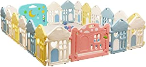LXJJGF Baby Fence  Baby Play Fence Child Safety Fence Home Crawling Toddler Baby Indoor Fence Playground  without Ball   Size 115x112cm