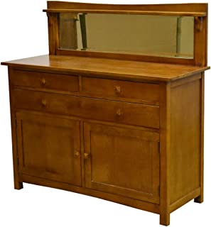 Crafters and Weavers Mission Buffet Cabinet with Mirror - Michael's Cherry