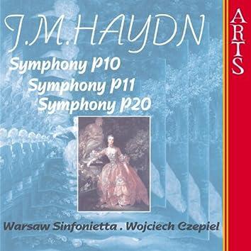 Michael Haydn: Symphonies P10/P11/P20