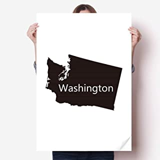 DIYthinker Washington The United States Map Sticker Poster Decal 31x22 31 inch x 22 inch(80cm x 55cm)