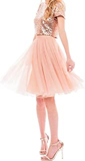 sequin top tulle skirt
