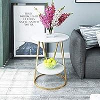 家具装飾エンドテーブルサイドテーブル錬鉄製スモールサウンドサイドテーブルシンプルなベッドサイド大理石コーナーテーブルリビングルームソファイーディングテーブル50 * 60cm(カラー:B)