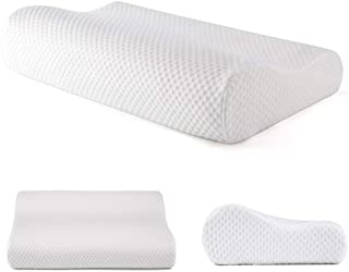 Tektrum Ergonomic Cervical Memory Foam Pillow with Suitable Height, Contour Pillow for Neck and Shoulder Pain, Orthopedic ...