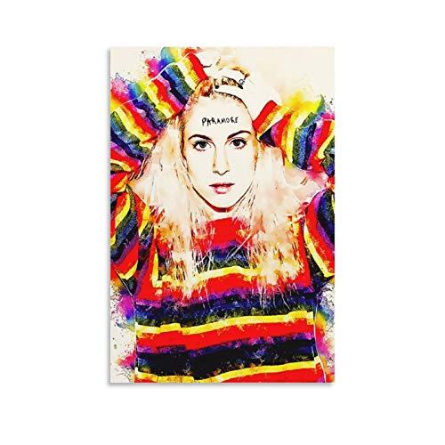 QWSDE Paramore Hayley Williams Grammy Awards Rock Star Poster 11 Poster, dekoratives Gemälde, Leinwand, Wandkunst, Wohnzimmer, Poster, Schlafzimmer, Malerei, 50 x 75 cm