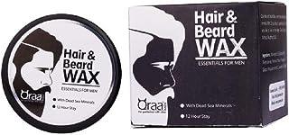 Qraa Men Hair And Beard Wax Black, 100 g