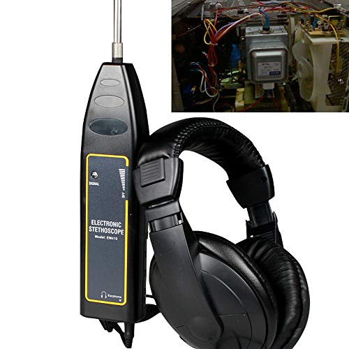 Electronic Stethoscope Earphone Leak Detector Water Pipe Detection Equipment Kit Electronic Stethoscope Earphone Leak Detector Water Pipe Leak Detector 100dB (US Stock)