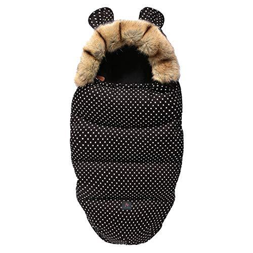 Drizzle Baby Swaddle Decke Indoor Outdoor Flanell Anti Kick Baby Schlafsack Wasserdicht Warm für Kleinkinder Neugeborene Jungen Mädchen 0-36 Monate Baby Quilt (Black)