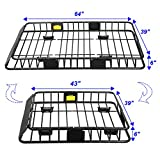 Roof Rack Cargo Basket, Universal Car Top Carrier Rack...