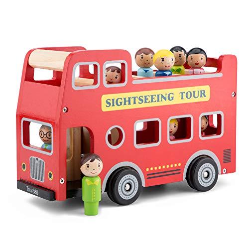 New Classic Toys-10546 Nuevos Clásicos Juguetes-2042927-Vehículos en Miniatura, Bus touristique de la Ville