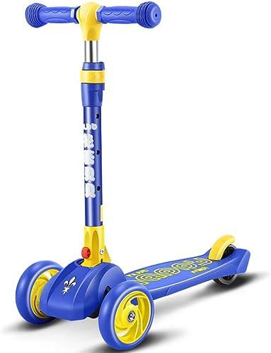 Paelf Kinder Roller 3-6 Jahre alt vierrunde Anf er 4 Rad Tretroller m lich Weißich S lingsbaby Spielzeugauto Faltbare Kinder Roller Up Junge mädchen