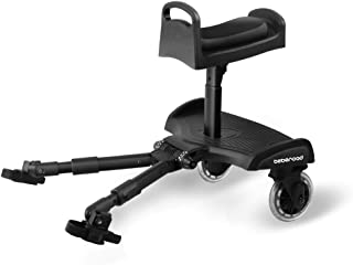 Baby Stroller Glider Board, Beberoad 2018 Patent Design Stroller Board with Dismountable Sponge Seat, Holds Kids Up to 45 LBS, All Wheels Suspension