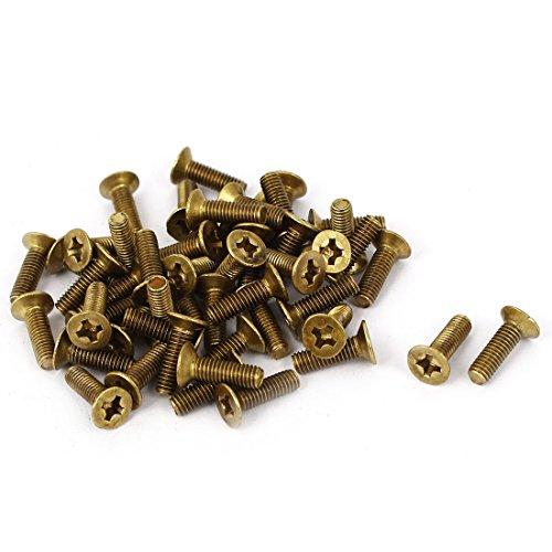 sourcingmap® M3x 10mm Messing PH Phillips Antrieb Schrauben Senkkopf Schrauben gb81950PCS de