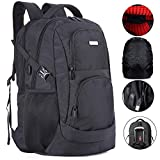 Extra Large Travel Laptop Backpack TSA Durable College School 19 &18.4 Inch Computer Bookbag with USB Charging Port...