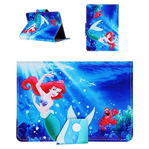 Disney Boys & Girls ~ Tablet Cases for Kids Tab 7' 8' 9.7' 10.1 Inch ~ New Cover ~ (Universal 7' (7' Inch), Little Ariel Mermaid)