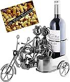 Brubaker Soporte para botellas de vino, diseño de moto con carro y perro,...
