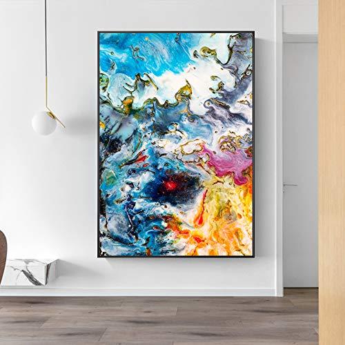 SADHAF Abstract aquarel beschilderd doek op muurschilderingen Wall Poster en Print schilderij Home Decor A5 60x90cm