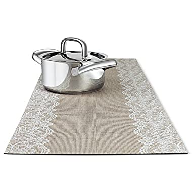 TRIVETRUNNER Decorative Trivet and Kitchen Table Runners Handles Heat Up to 300F, Anti Slip, Hand Washable, and Convenient for Hot Dishes and Pots,Hand Washable (Jute and Lace)