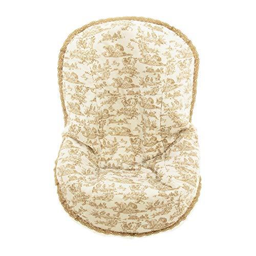 Colchoneta para silla de paseo grupo 0 Abatible Rosy Fuentes- Ideal para Capazos de Grupo 0 Abatibles - Funda Silla Paseo - Resistente y Duradero - Elaborado en Estampado - Color camel