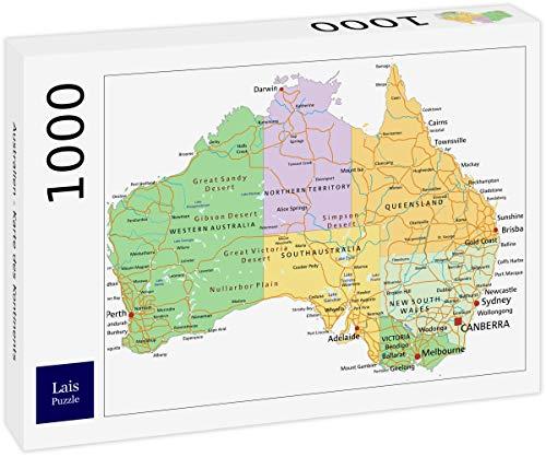 Lais Puzzle Australien - Karte des Kontinents 1000 Teile